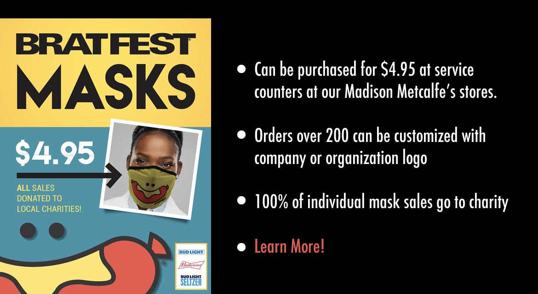 Brat Fest Mask Sales
